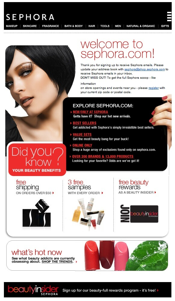 Sephora - Welcome Emails