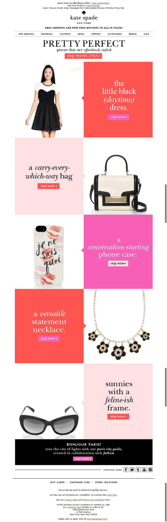 Use-of-color-email-example-Kate Spade