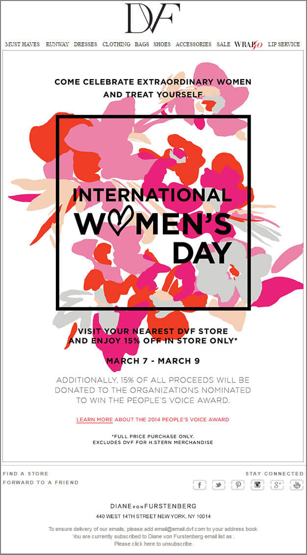 Women's Day Email_DVF