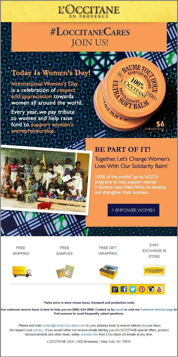 Women's Day Email_L-occitane