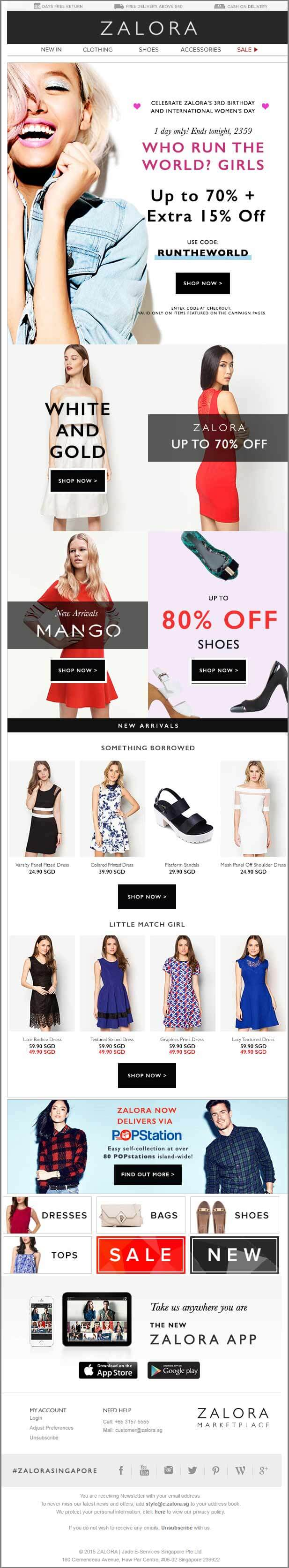 Women's Day Email_ZALORA