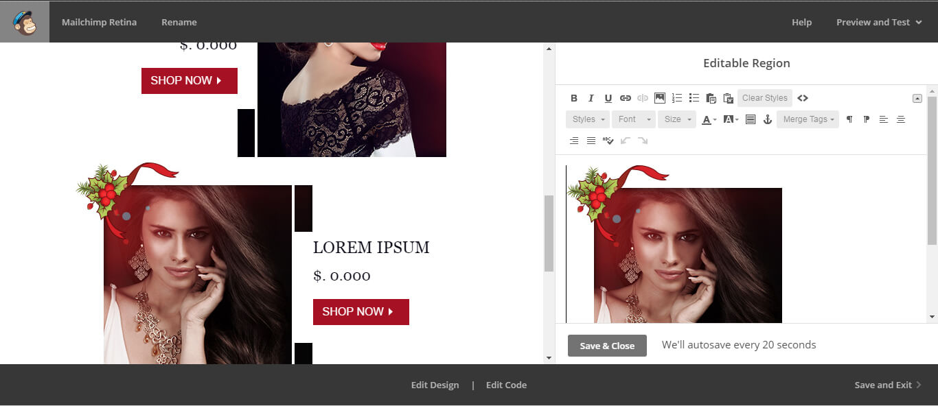 mailchimp image size -Image-editor-width