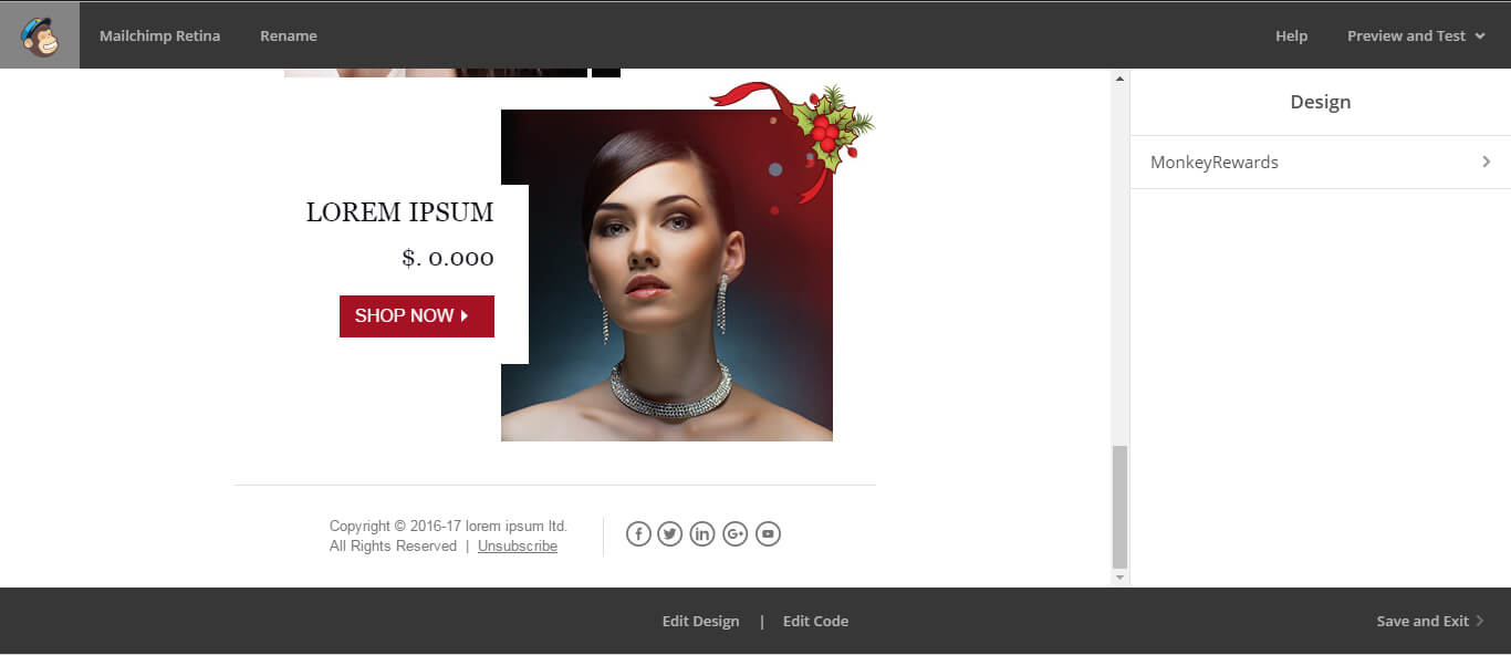 mailchimp image size-Without-Edit-code