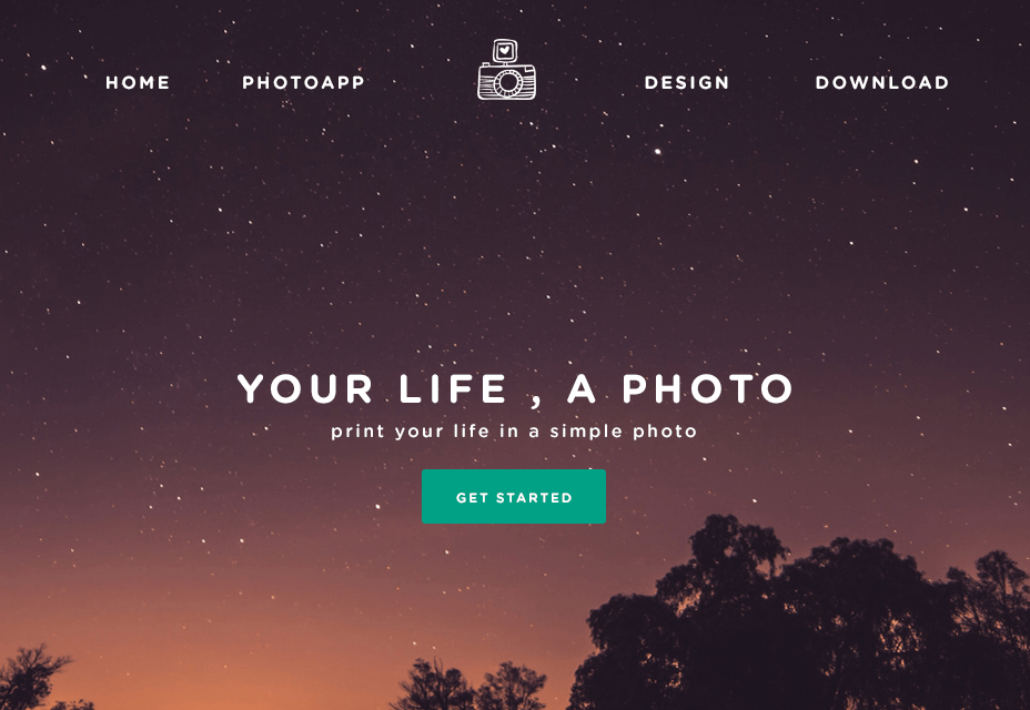 website landing page-phototime-psd-landing-page-template