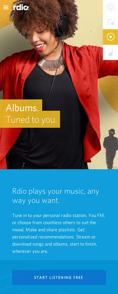 rdio-website landing page