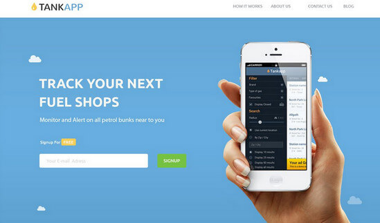 tabk-app-website landing page