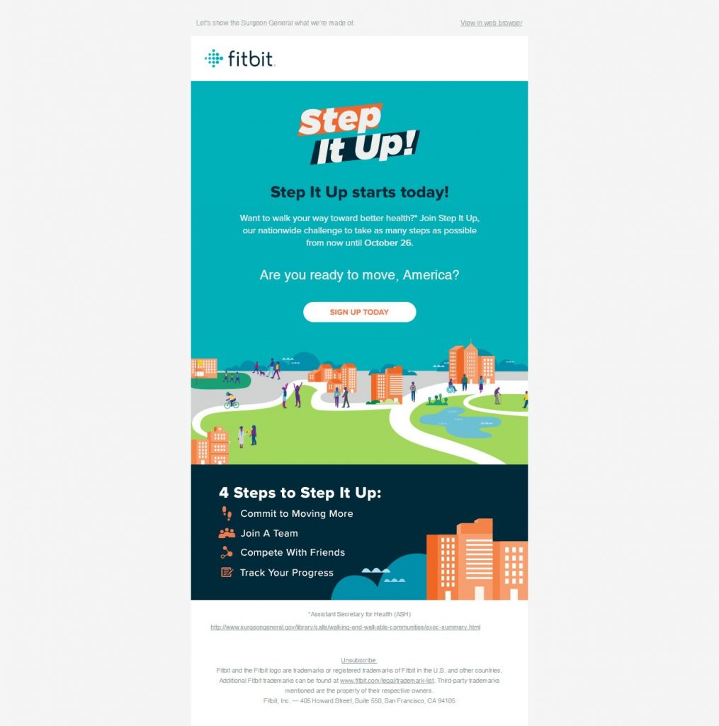 Flat email design- Fitbit