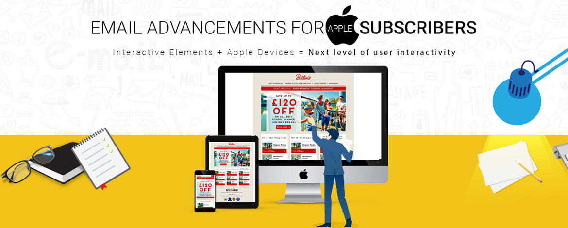 Interactive Email Advancements infographics