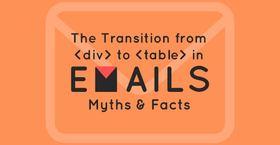 div versus table in emails