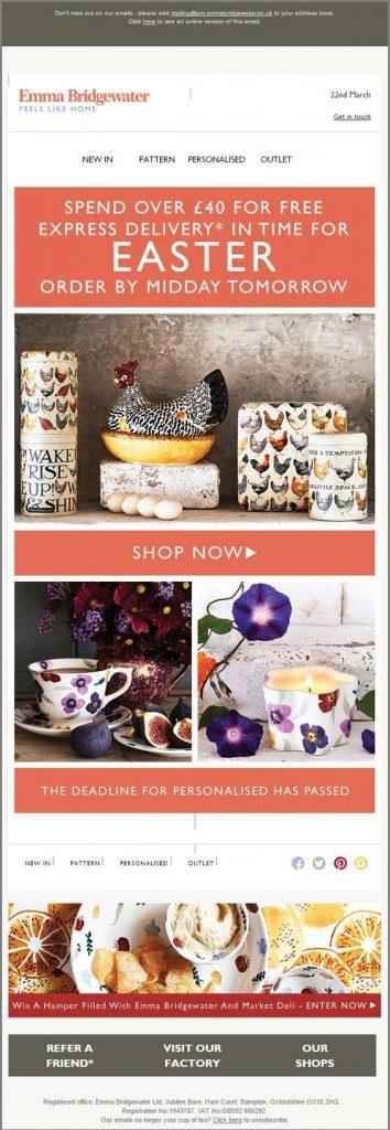 Easter email marketing-EMMA BRIDGEWATER