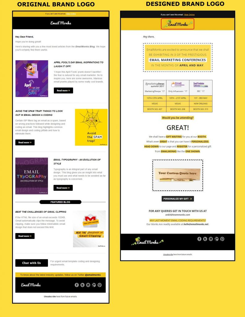 Beautiful Email Design - EmailMonks