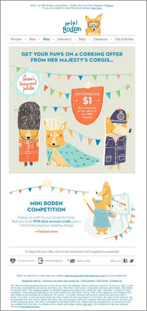 Designing for email-Mini-Boden