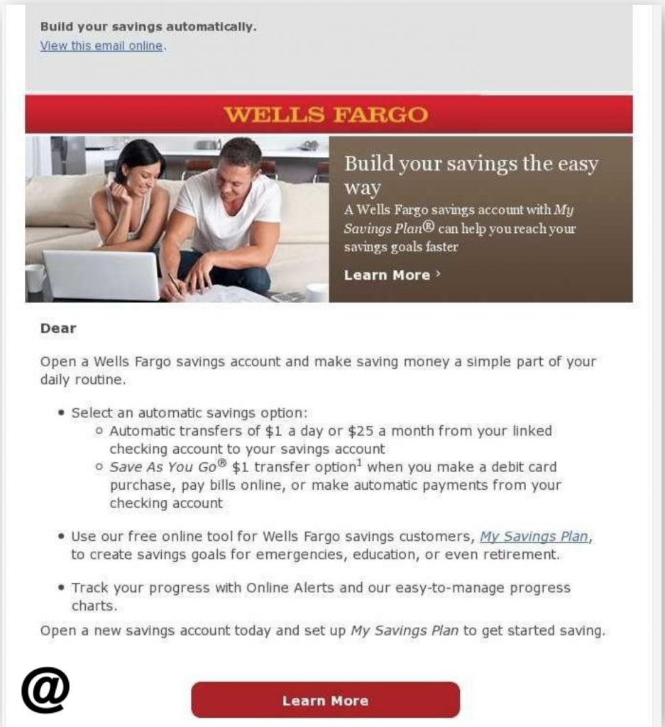 Wells Fargo Bank Email Templates
