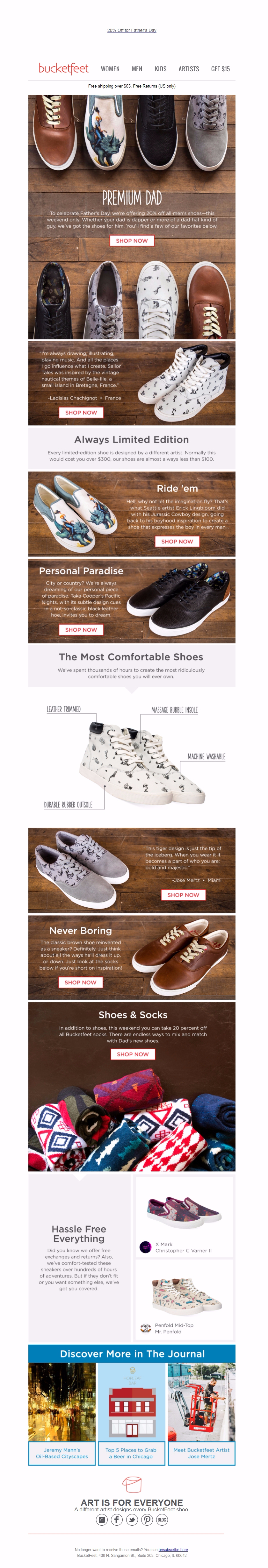 Bucketfeet - Email inspiration