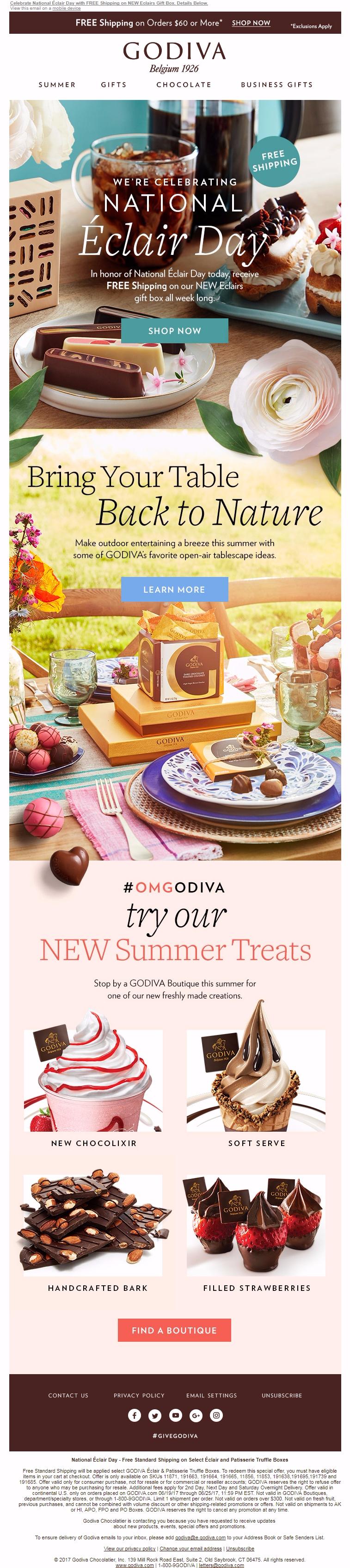 GoDiva - Email inspiration