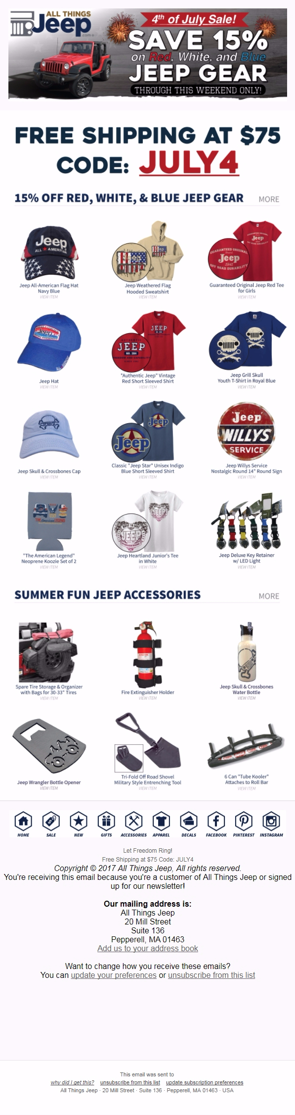 Jeep - Email inspiration