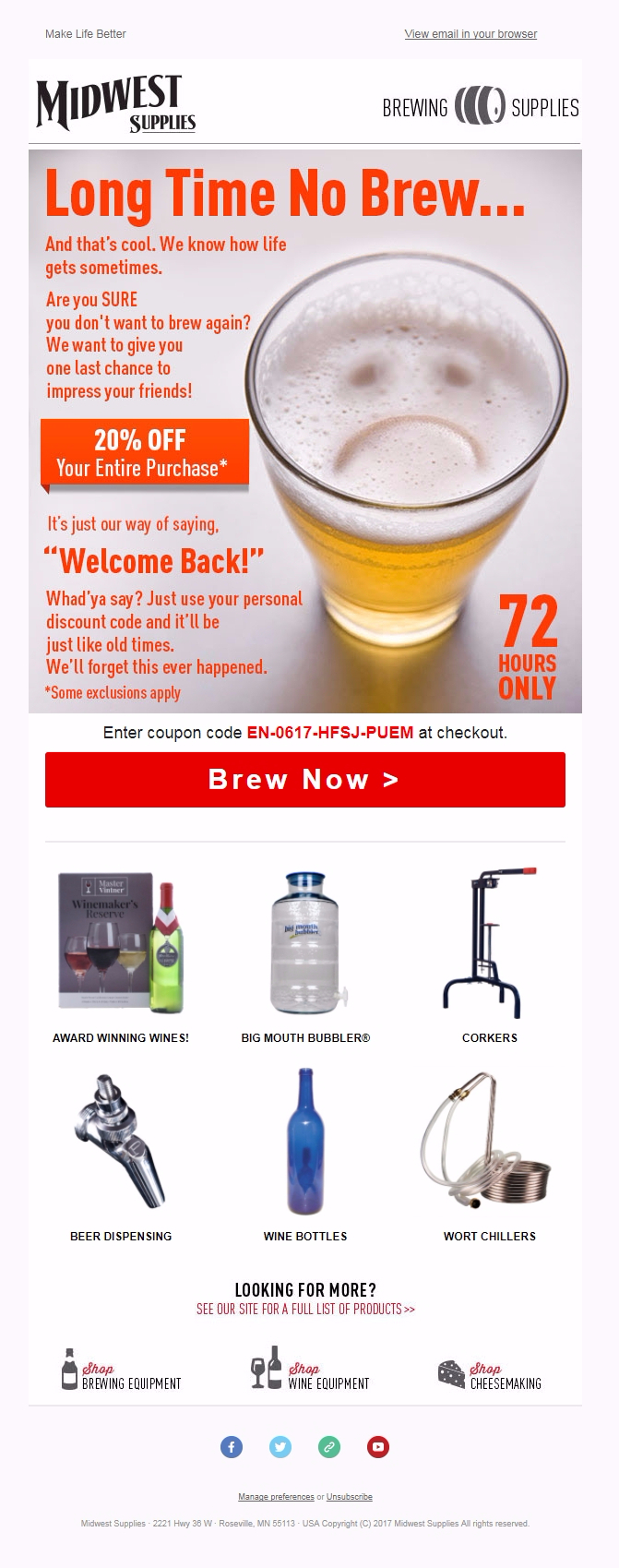 Midwest Brewery - Email inspiration