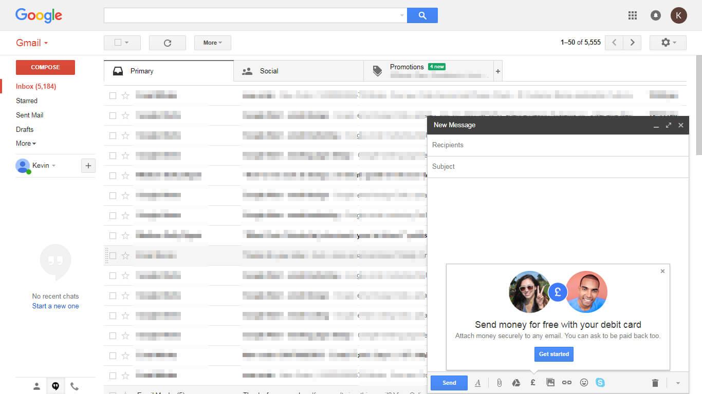 Transaction Via Emails - New Message