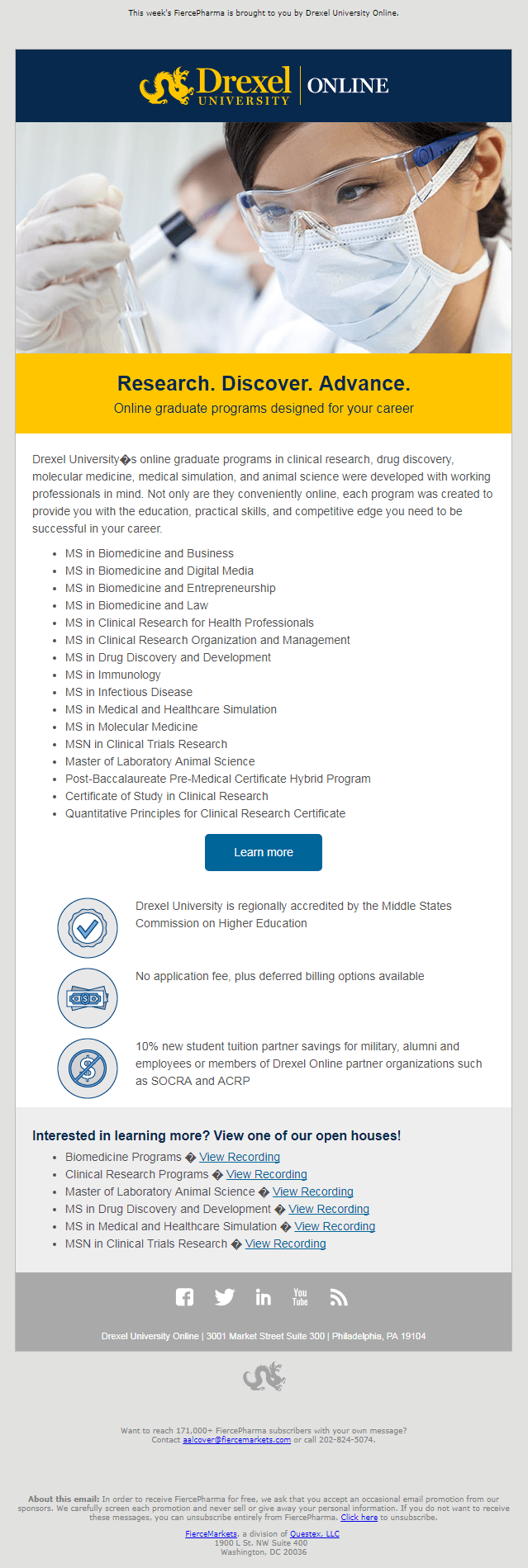Drexel Educational Email