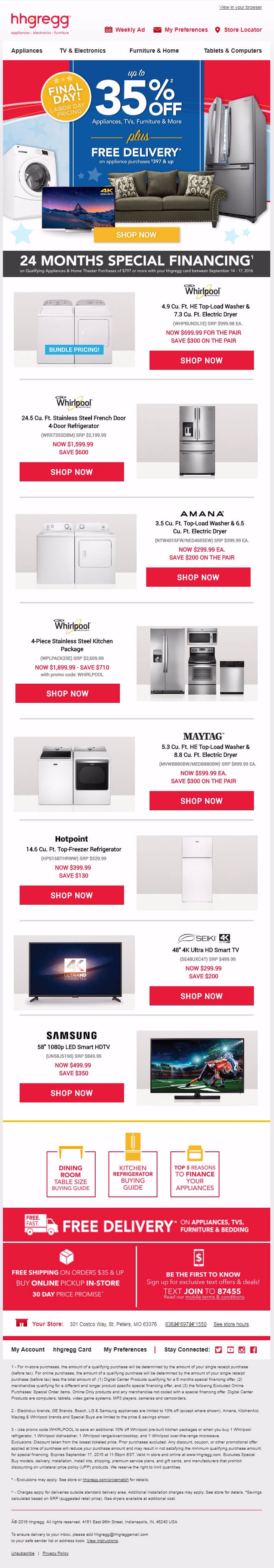 Labor Day Email - hhgregg