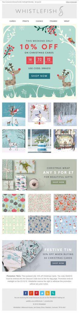 Whistlefish - Christmas Holiday Email