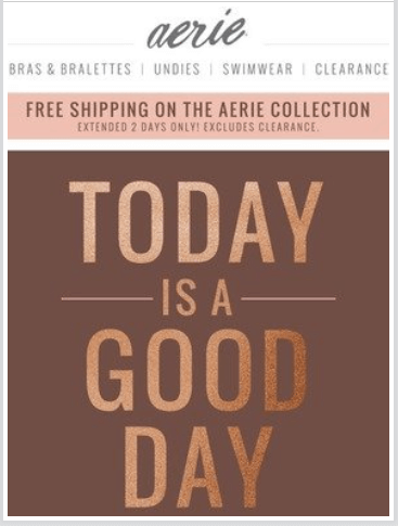 Aerie - Custom email templates
