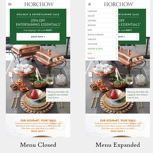 Horchow-Mobile-Hamburger-Menu