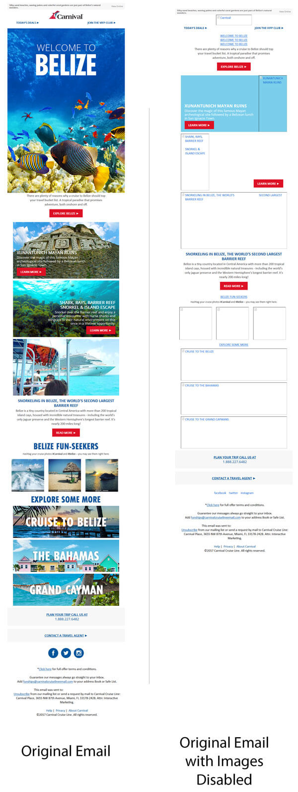 carnival cruise line email