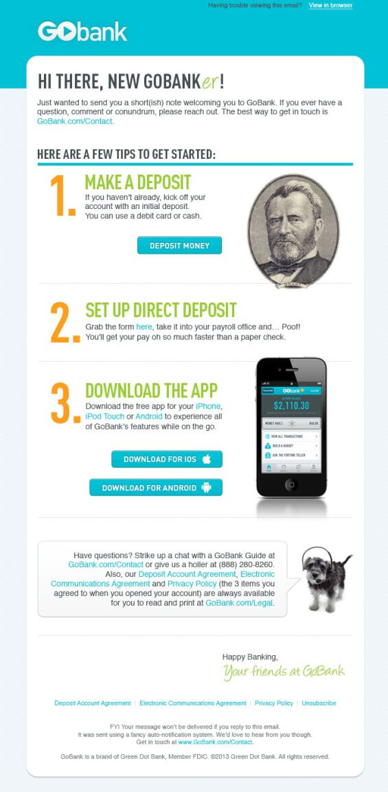 Go Bank Bank Email Templates