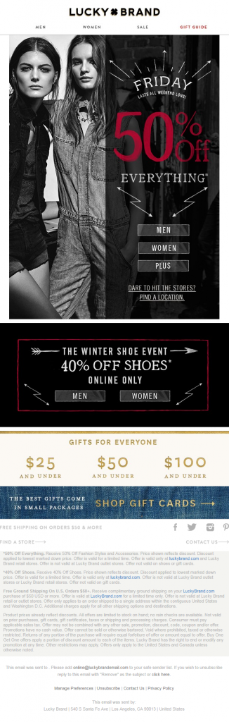 Lucky Brand_black friday email