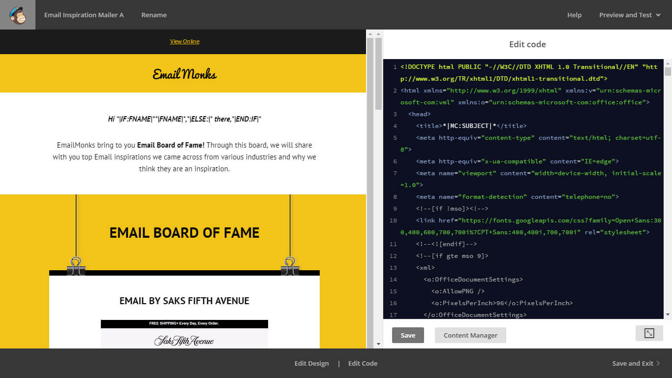 MailChimp Email Template Editor Monks Review - Mailchimp template code