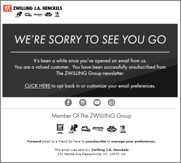 re-engagement emails - Zwilling Online