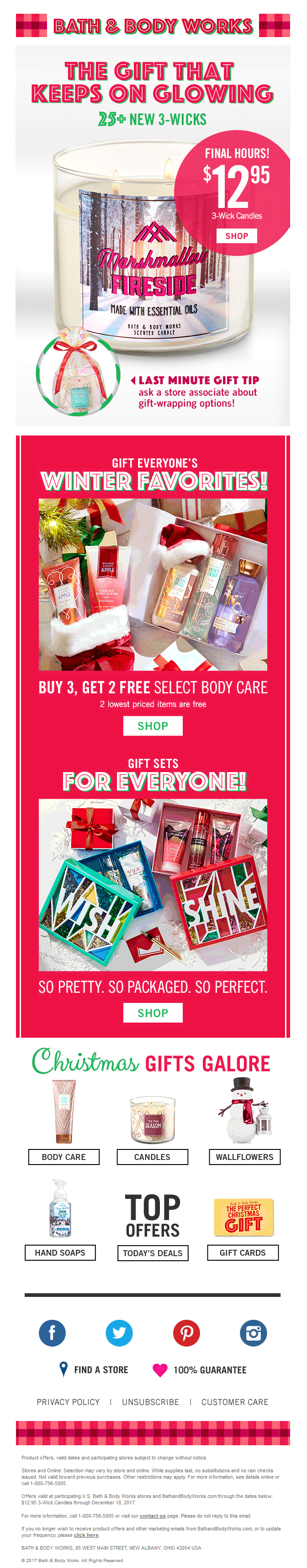 Bath and Body Works email