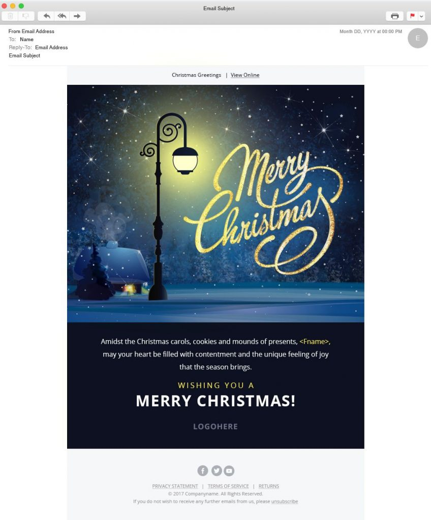 Christmas Email Template Downloadable