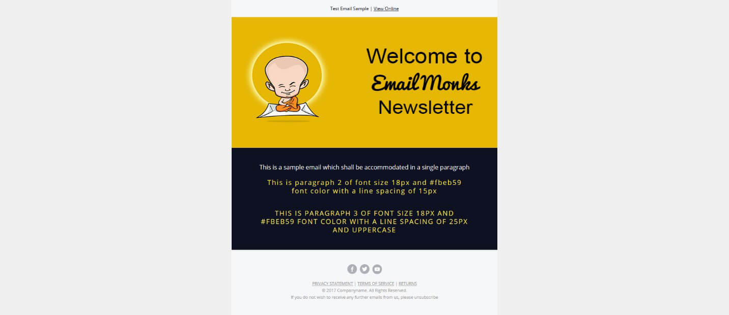 Create Email HTML Template Email Footer
