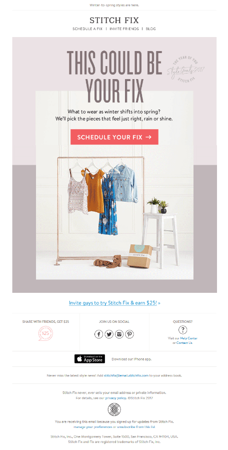 Stitch Fix Static email