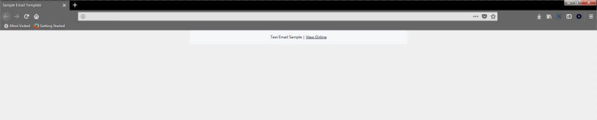 Create email HTML Template View Online