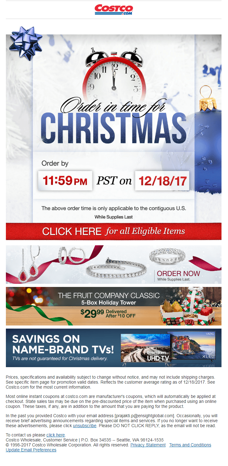 Costco email
