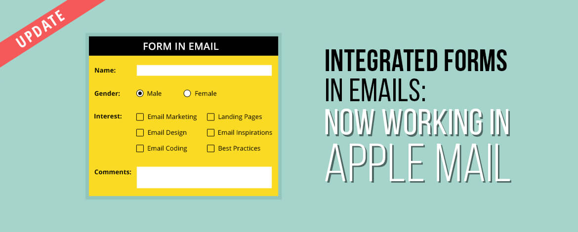 Integrated Forms in emails in Apple