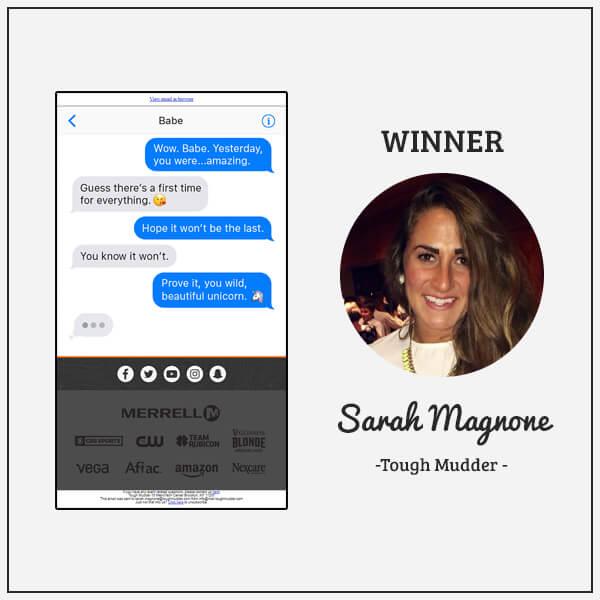 Sarah from Tough Mudder