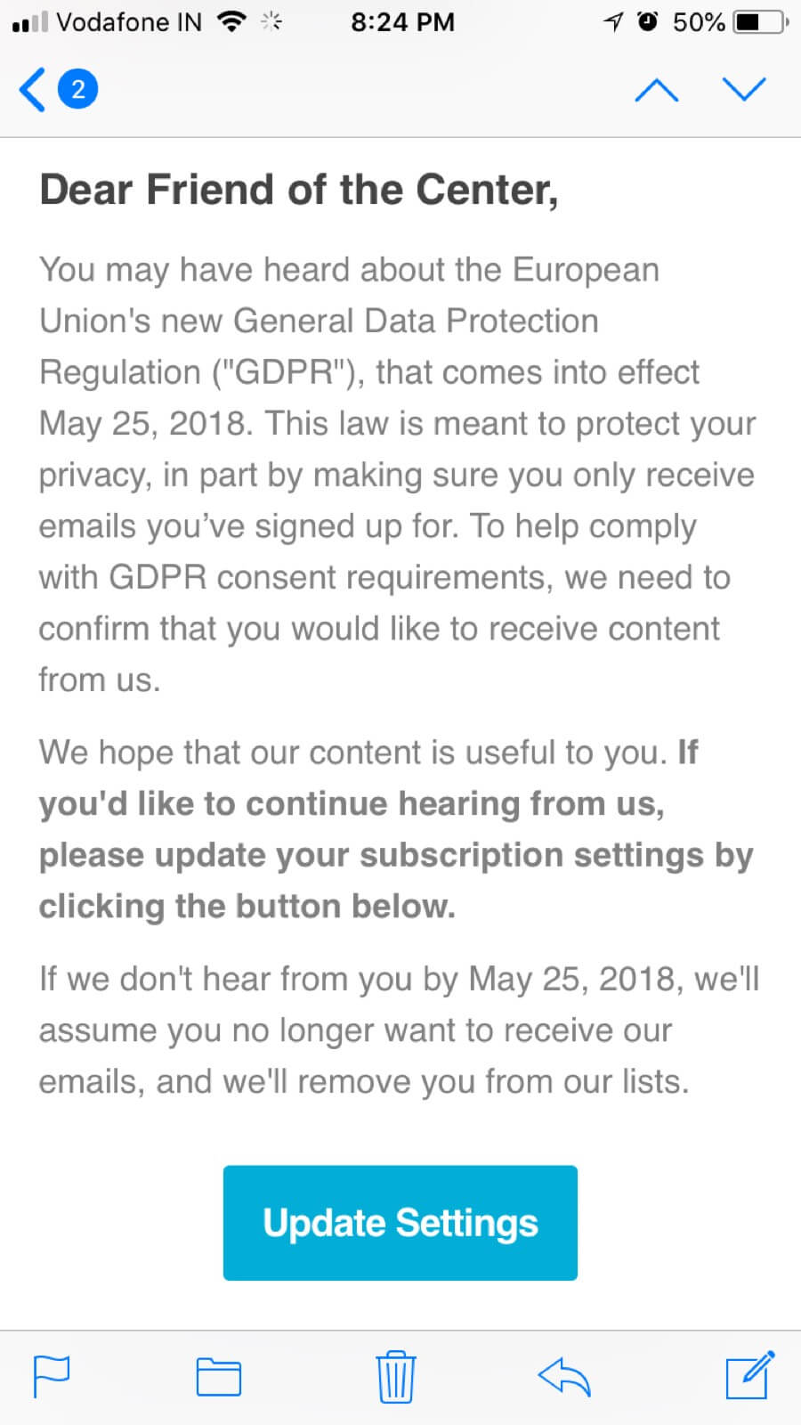 GDPR email 1