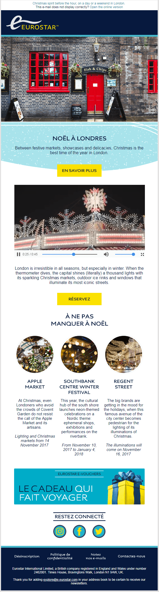Eurostar email