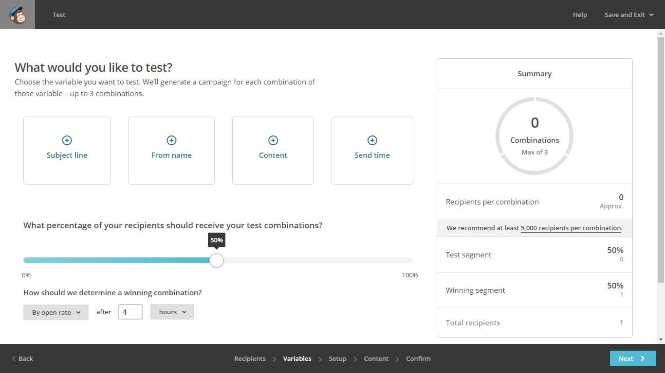 Email A B testing your Mailchimp Campaigns