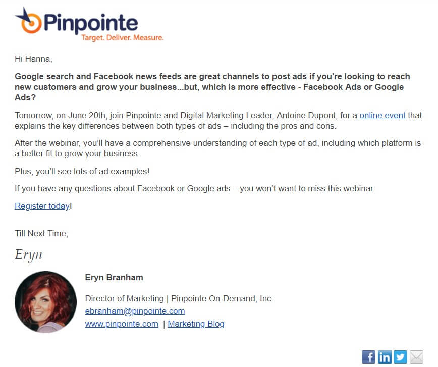 PinPointe Trending Email Template
