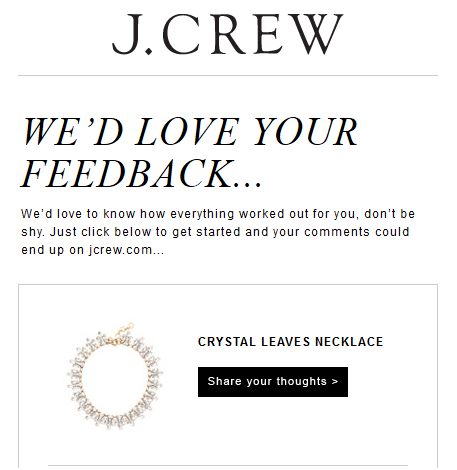 j.crew feedback