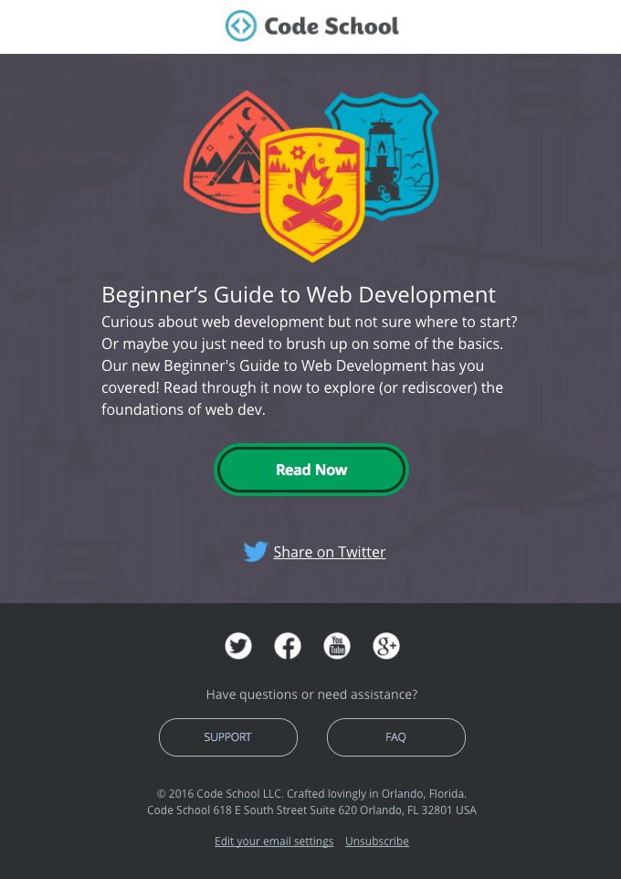 Code School Email Template