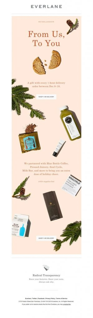 Everlane Email Template