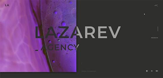 Lazarev landing page design