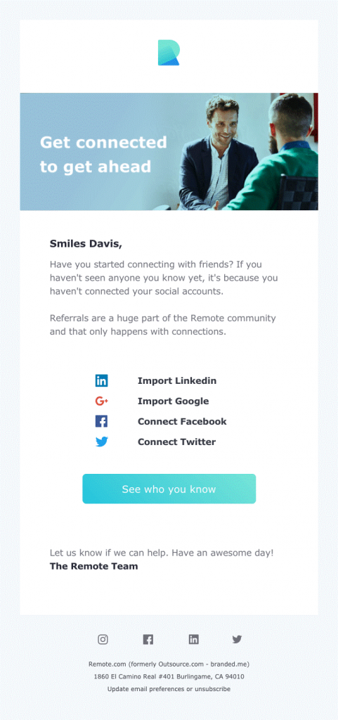 Referrals Email Template