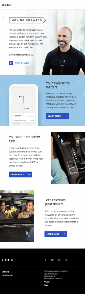 Uber Email Templates